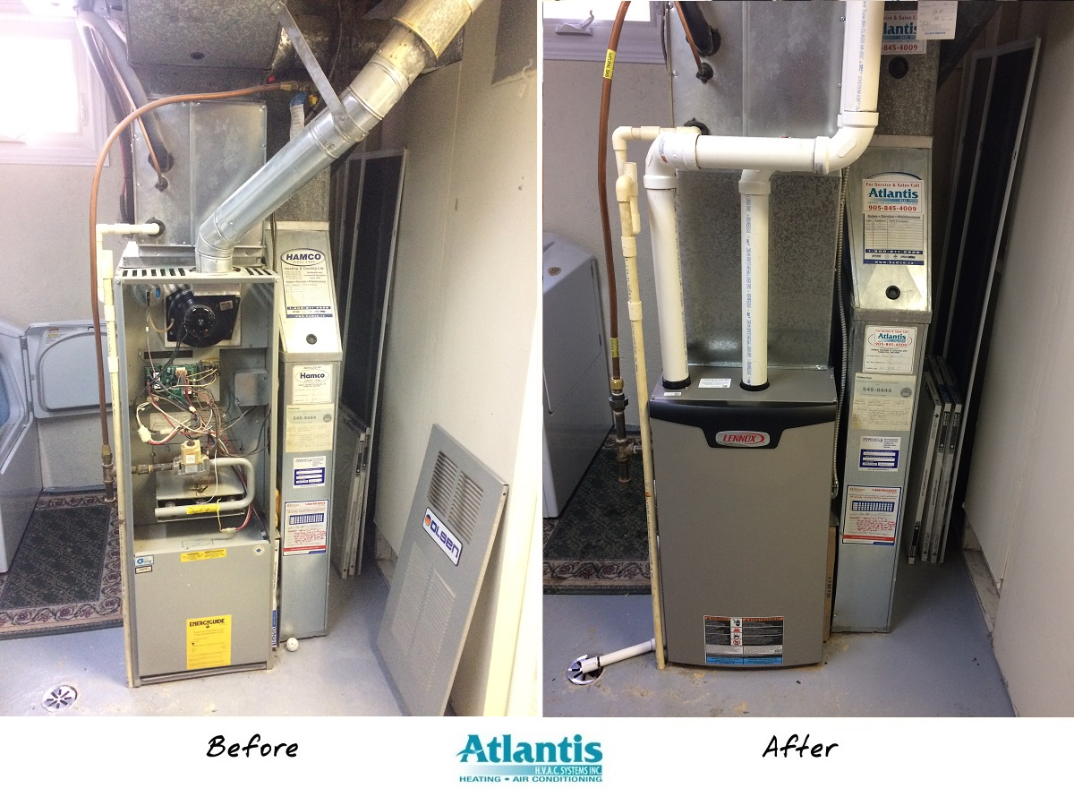 updated lennox furnace installation